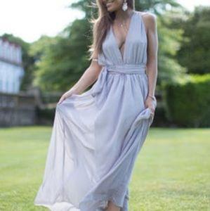 Floor length mauve gown